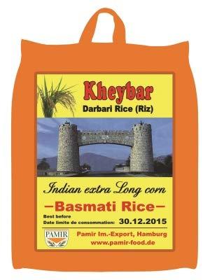 Mr. Ghorbani Kheybar 4,5 Kg 'Kheybar Darbari' Basmati Reis, indien, Langkorn Reis