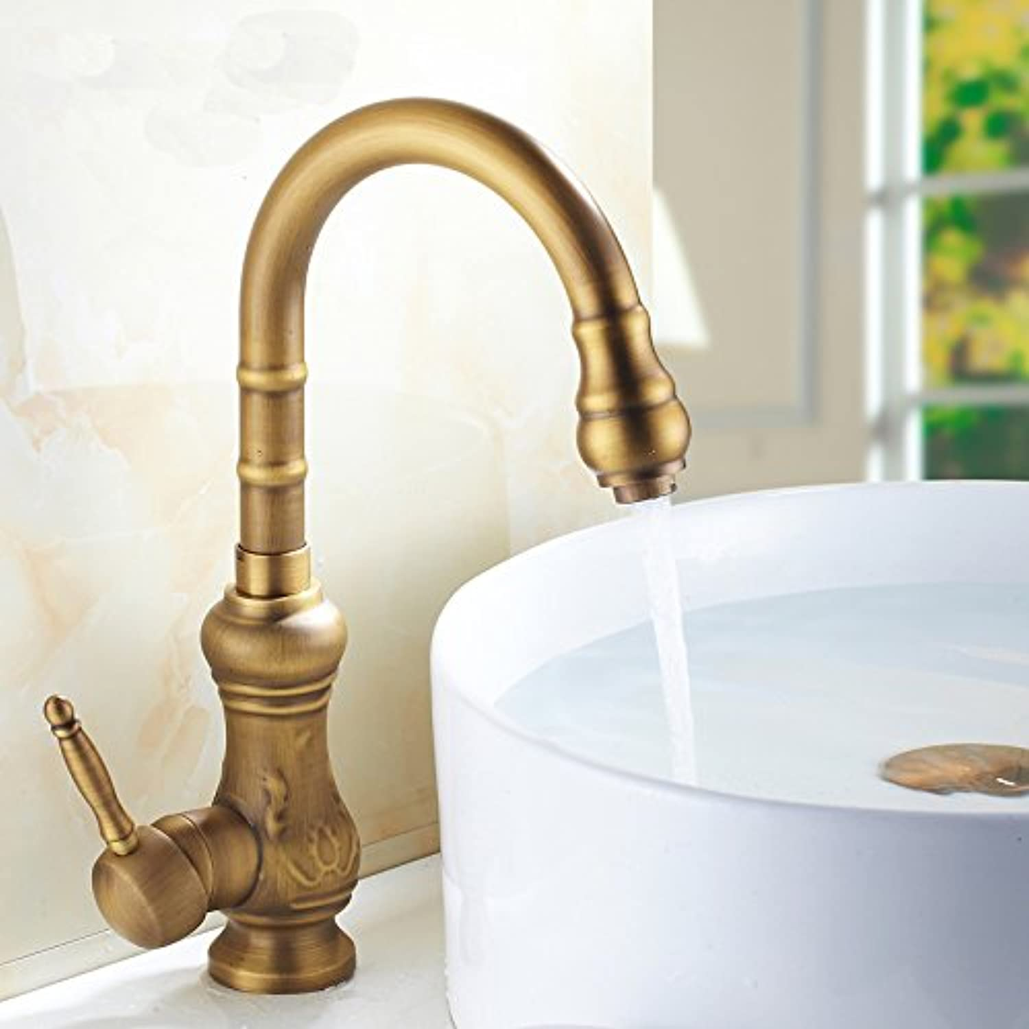 New Bronze Hot and Cold Taps Basin Platform Basin Single Hole Water Tank redary Faucet,Sink Dish Basin Tap
