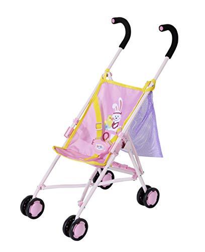 Zapf Creation 828663 BABY born Stroller with Bag Puppenwagen mit Tasche, einfach und schnell zusammenklappbar, Puppenzubehör für Puppen fast aller Größen, 62 cm Griffhöhe