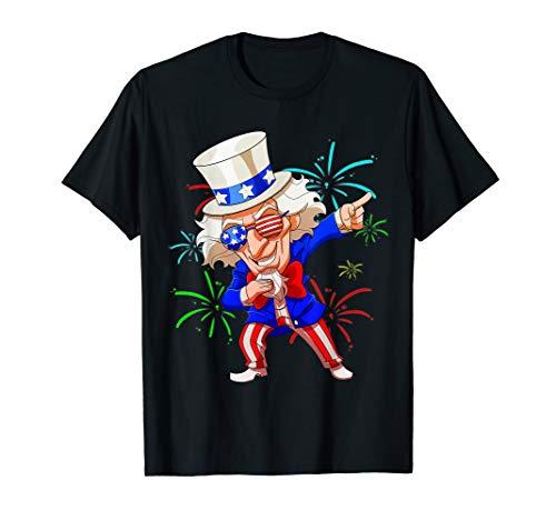 Dab 4 Juli Kleidung Patriotische Kinder USA Dabbing Outfits T-Shirt