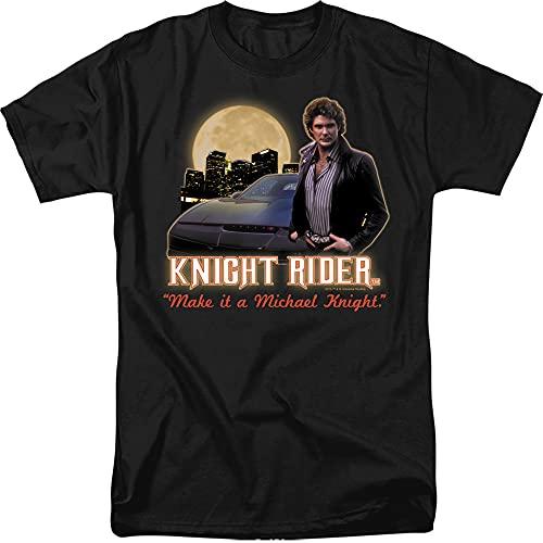 Make It A Michael Knight. - Knight Rider Adult T-Shirt, Large Black