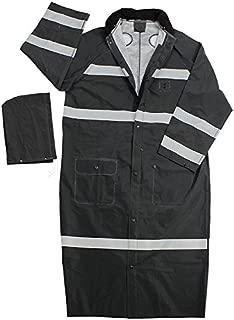 Galeton 12260-XXL-BK 12260 Repel Rainwear Reflective 0.35 mm PVC Raincoat, 60