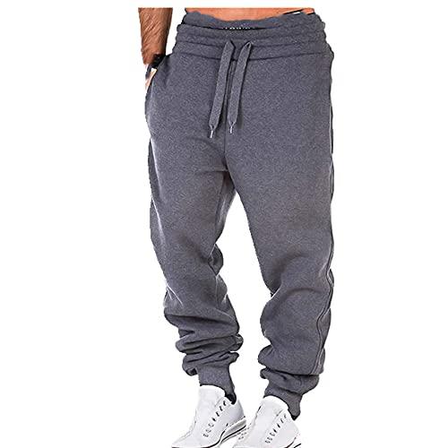 N\P Pantalones de correr para hombre Casual Sueltos Hallen Pantalones Bolsillo Fitness String Elástico