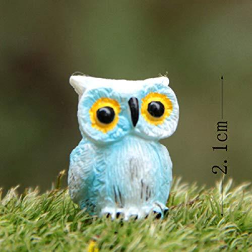 yueyue947 Decoracin del terrario Bho Lindo Resina Animal Bonsai Estatuilla/Miniaturas artesanales Macetas Hogar Jardn de Hadas Adorno Decoracin del hogar/Azul