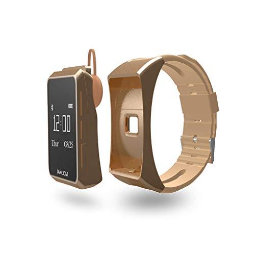 Smartwatch, bluetooth-mobiele telefoon, oproep, kind, horloges, hartslagmonitor, stappenteller, calorieën, ritmemonitor, horloges voor dames en heren, goud