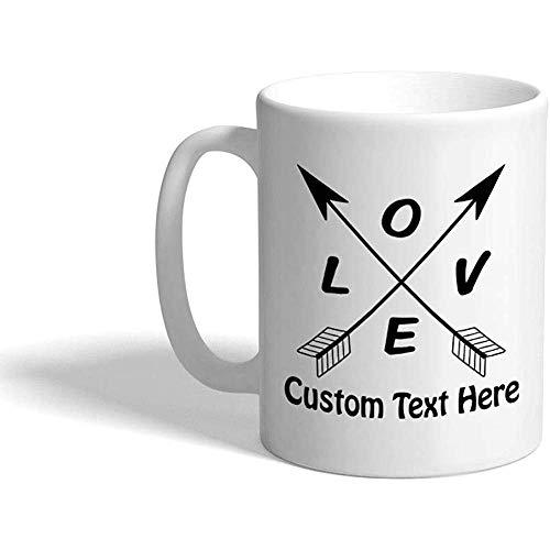 Taza de café personalizada 330 ml Love Valentines B Taza de té de cerámica Texto personalizado