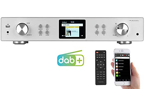 VR-Radio Internet Radio Tuner: Digitaler WLAN-HiFi-Tuner mit Internetradio, DAB+, UKW, MP3, Alu-Optik (WLAN Netzwerk Player)
