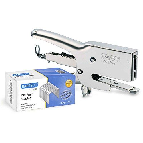Rapesco Classic Plier Stapler Set, Includes 73 Plier Stapler and Pack of 2,000 Staples 73 Type 1/2' (1306)