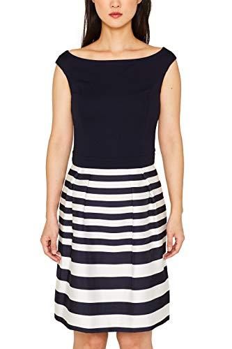 ESPRIT Collection Damen 079EO1E017 Kleid, Blau (Navy 400), (Herstellergröße: 40)