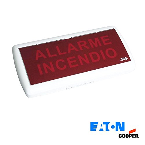 Cooper Eaton 5055 LED de Señal Óptica Acústica Lámpara de Emergencia Contra Incendios, IP54