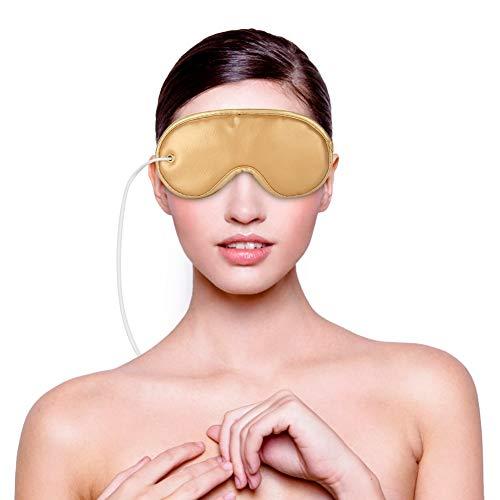 Maschera per gli occhi riscaldata, Electric USB Riscaldamento Pad Maschera per gli occhi Terapia magnetica Aromi a base di erbe...