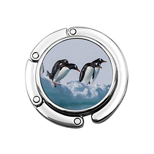 Gentoo Penguins On Ice Bolso de Mano Gancho Bolso Percha para niños Diseños únicos Sección Plegable Almacenamiento Bolsos