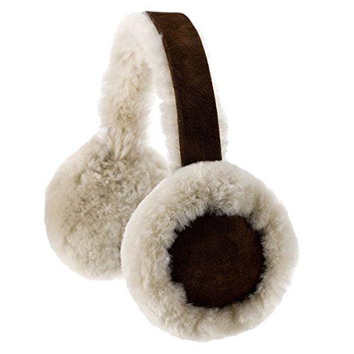 Ohrenschützer von Oakgrain aus echtem Schaffell Gr. One size, Brushwood
