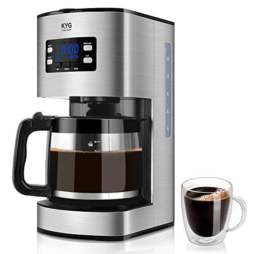 KYG Cafetera Goteo Máquina de Café con Temporizador Cafetera de Filt