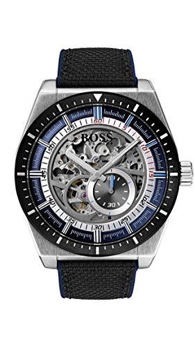 Hugo Boss Herren Skeleton Automatik Uhr mit Leder Armband 1513643