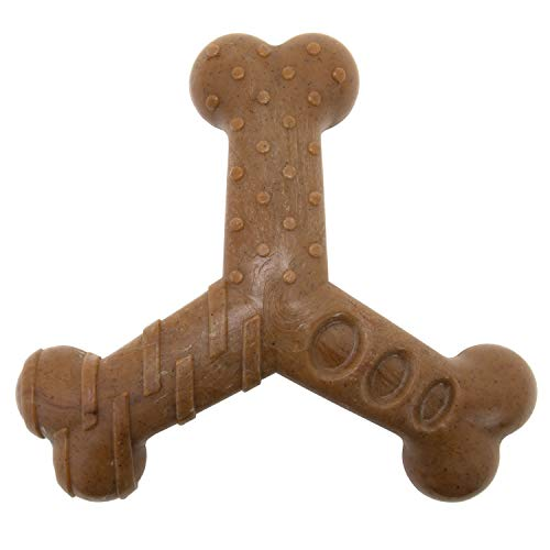 Chew King Bacon Lovin' Wishbone, Nylon Bones, Textured Bacon Flavored Chew Toy