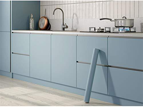 Bai You Mei Klebefolie Uni Matt Dekofolie Möbelfolie Tapeten Selbstklebende Folie,für Küchen, Badezimmer,Blau PVC,Wasserdicht ohne Phthalate,5m*60cm