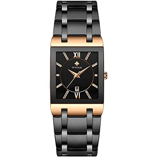 SXLONG Reloj De Cuarzo Impermeable Calendario Cronógrafo Deportivo Impermeable Reloj De Pantalla Digital Reloj De Banda De Acero para Hombres