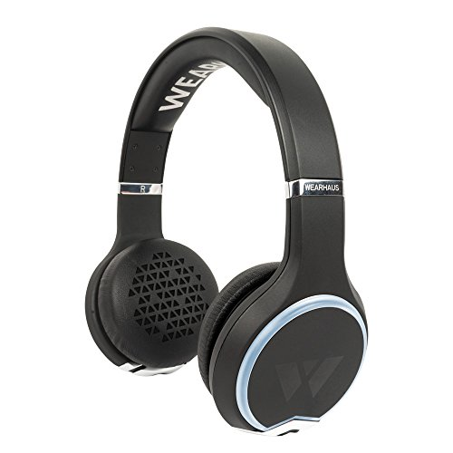 Wearhaus Arc Bluetooth Headphones with Customizable Lights, Touch Controls, and Wireless Audio Sharing – Black