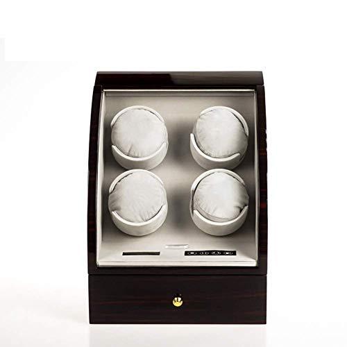CLJ-LJ Quad automática Watch Winder, Shaker Caja de Reloj mecánico automático, Control avanzado y silencioso del Motor, Pantalla LCD táctil Digital de visualización, 3 almacenaje de la joyería, D