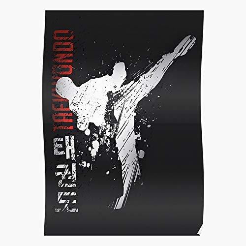Wolvpower Boxing Kickboxing Martial Taekwondo Kick Thai Judo Muay Das eindrucksvollste und stilvollste Poster für Innendekoration, das derzeit erhältlich ist