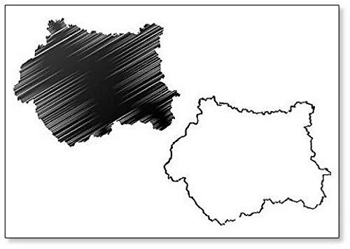 Imán para nevera con diseño de mapa de West Yorkshire (Reino Unido, Inglaterra, Condado de Metropolitano)