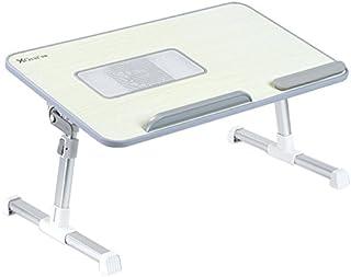 Totalmente ajustable Mesa portátil Panel MDF | Ordenador portátil Notebook soporte con una función de ventilador de refrigeración | XGear premium Altura ajustable plegable Bandeja Lap Desk (gris)