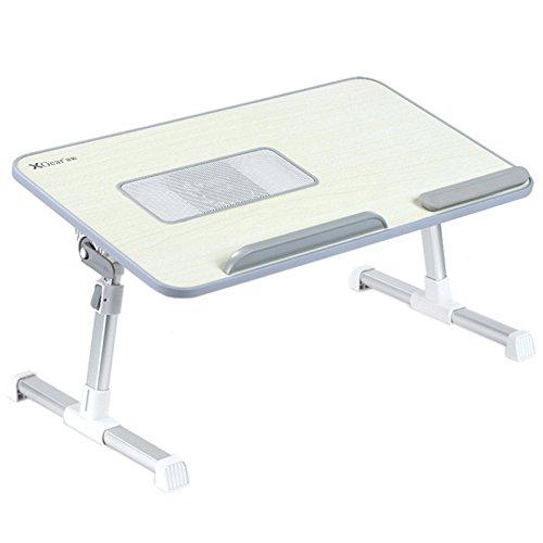 Voll einstellbare MDF-Platte Laptop-Tisch | Tragbaren Notebook-Computer-Standplatz mit eingebautem Lüfter | XGear Premium-Höhenverstellbarer Folding Lap Desk Tray (grau)
