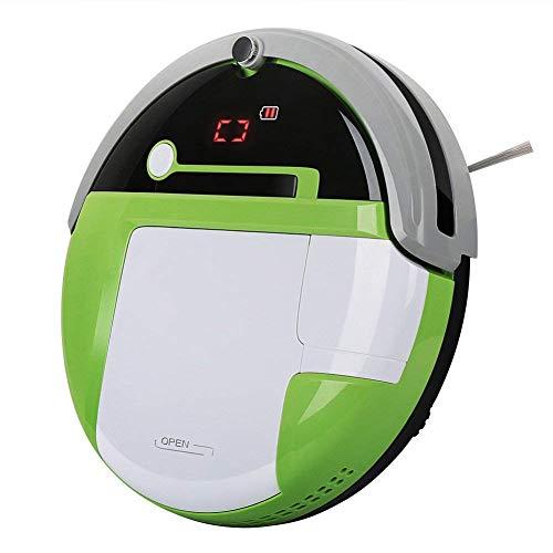 Ydq Robot Aspirador,Robot Aspirador Y Fregasuelo con Marcador Magnético De Límite, Tanque De Agua De Control Eléctrico Y Diseño Delgado para Suelos Duros Y Alfombras 1000Pa