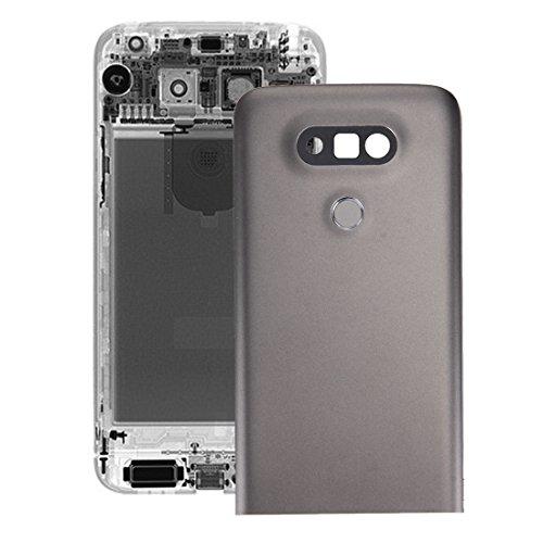 YGMOTO XIO AYSMG Metall rückseitige Abdeckung mit Rückseiten-Kamera-Objektiv-Fingerabdruck-Knopf for LG G5 (Gray) (Color : Grey)