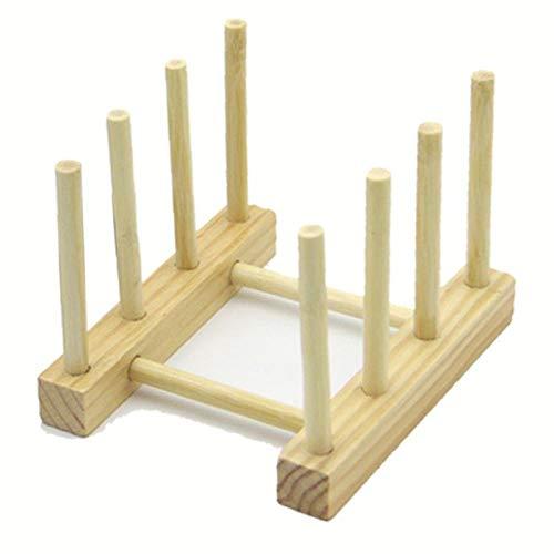 Bandeja de goteo de bambú hecha a mano, soporte para estante de cocina, organizador para platos/platos/tazas/tapas/tapas/tablas de cortar (31 x 11,5 cm)
