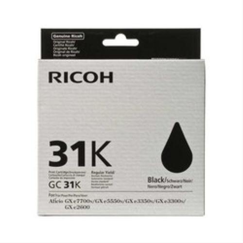 Original Ricoh 405688 / GC-31K Gelkartusche (schwarz) für Aficio GX e 2600, e 3300, e 3350