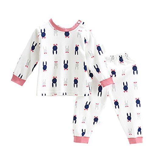 OHmais Bébé Fille garçon Unisexe Grenouillère Ensemble de Pyjama 2 Pieces Coton Orange Size 80