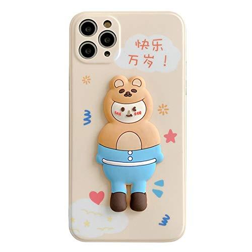 Funda telefónica, Cubierta Protectora 3D Pato a Prueba de Golpes a Prueba de Golpes Ajuste para iPhone11Pro / 7 / 8Plus, Cubierta Protectora Flexible Suave, parachoq A-iPhone 11