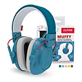 Alpine Muffy Kids Ear Defenders - Ear Muffs for Children Aged 5-16 - Premium Noise Cancelling Earmuffs Specially Designed for Kids - Comfortable Hearing Protection with an Adjustable Headband - Blue