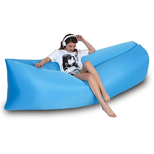 LIANG Inflatable Lounger Portable Hammock Air Sofa and Camping Chair with Water Proof& Anti-Air Leaking Design, Ideal Inflatable Couch and Beach Chair Camping Accessories,Send Storage Bag