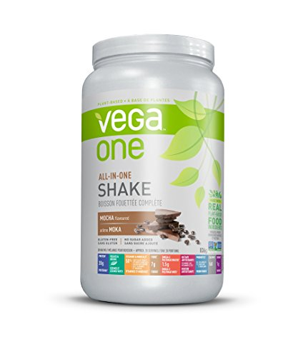 Vega One All-in-One Plant Based Protein Powder Mocha 20 Servings, Plant Based Vegan Protein, Non Dairy, Gluten Free, Non GMO