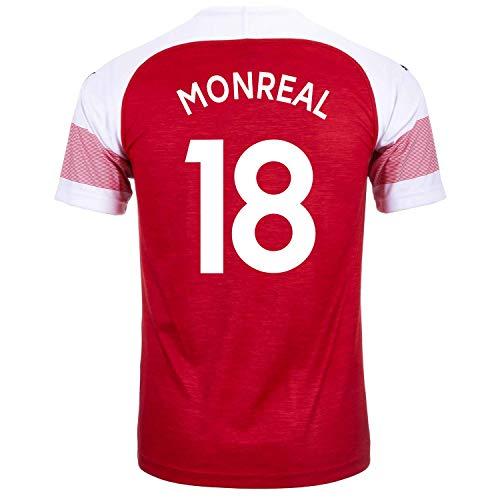 PUMA MONREAL #18 Arsenal FC Home Youth Soccer Jersey 2018-19 (XL)