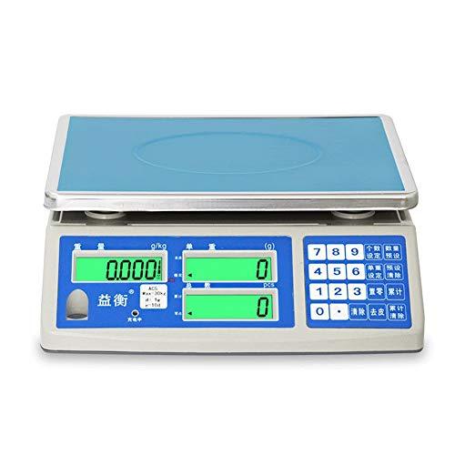 ZCY 0,1g hoge precisie elektronische weegschaal 3 kg/6 kg/15 kg/30 kg professionele industriële weegschaal gewichtsklasse platform met HD-display, gemaakt voor Espresso ES94