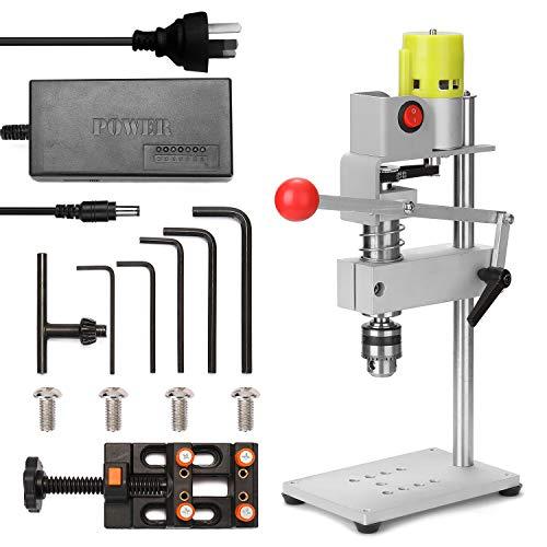 Romacci Micro Mini Furadeira de bancada 100W Máquina fresadora doméstica Furadeira elétrica multifuncional DIY Perfurador de orifício preciso