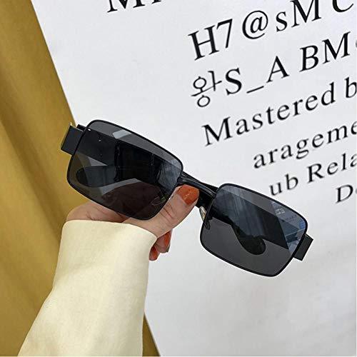 ZZOW Gafas De Sol Cuadradas Steampunk Vintage para Mujer, Diseñador De Marca, Gafas A La Moda, Gafas para Hombre, Montura De Gafas Transparentes Anti-BLU-Ray