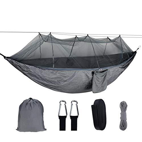 ZHANGNING Hamaca con mosquitera 1-2 Personas Portátil Al Aire Libre Camping Hamaca con mosquitera, Tela de paracaídas de Alta Resistencia, Swing latente, Carga máxima 300 kg Hamaca aérea de Camping