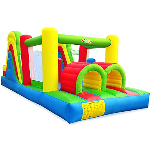 YARD Inflatable Obstacle Course w/ Heavy Duty Blower 0.4mm...