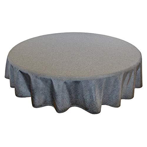 Tischdecke Wien, anthrazit, 160 cm rund, Fleckschutz, Tischdecke für das ganze Jahr