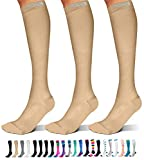 SB SOX 3-Pair Compression Socks (15-20mmHg) for Men & Women – Great Quality Comfortable Socks,...