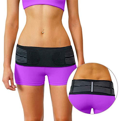 Beckengurt bei Bandscheibenvorfall für Damen und Herren, lindert Ischias, Becken, Schmerzen im unteren Rücken- und Beinbereich, stabilisiert, rutschfest und fasert nicht