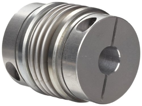 Huco 536.26.2828.Z Size 26 Flex-B Bellows Coupling, Stainless Steel with Aluminum Hubs, Inch, 0.315
