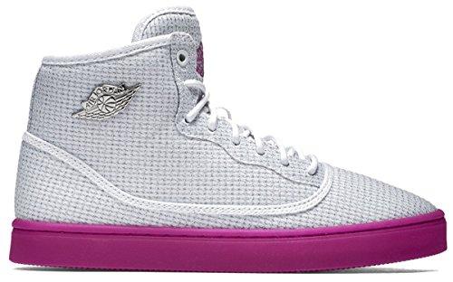 Nike Damen Jordan Jasmine GG Laufschuhe, Weiß/Schwarz/Lila/Silber (Weiß/Schwarz-SLVR MDM FCHS-Mtllc), 42 EU