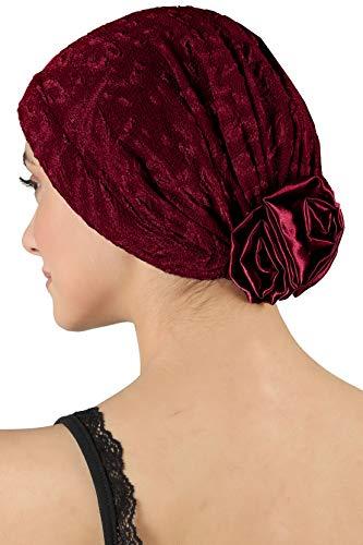Brocade elegante Schlauchtuch mit Satin-Rose bei Haarausfall