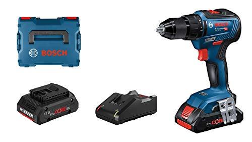 Bosch Professional Akkuschrauber GSR 18V-55 (2x 4,0 Ah ProCore Akku, 18 Volt System, max. Drehmoment: 55 Nm, in L-BOXX)